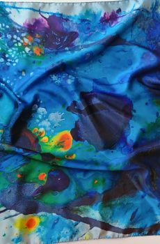 Scarf. Hapiness in turquoise