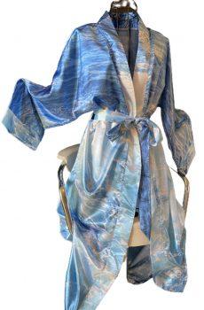Satin Kimono Warm Ocean